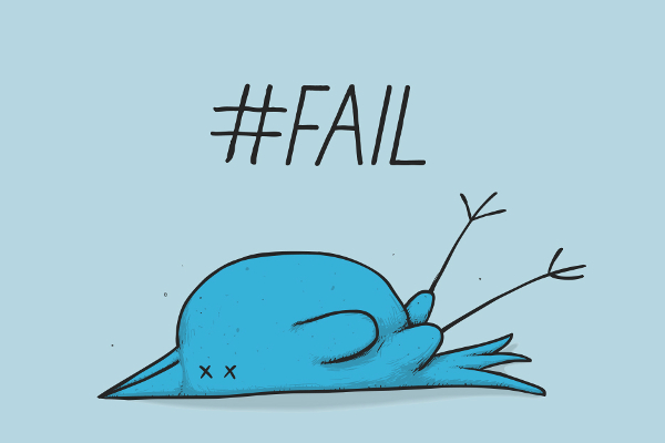 Errores más frecuentes en Twitter